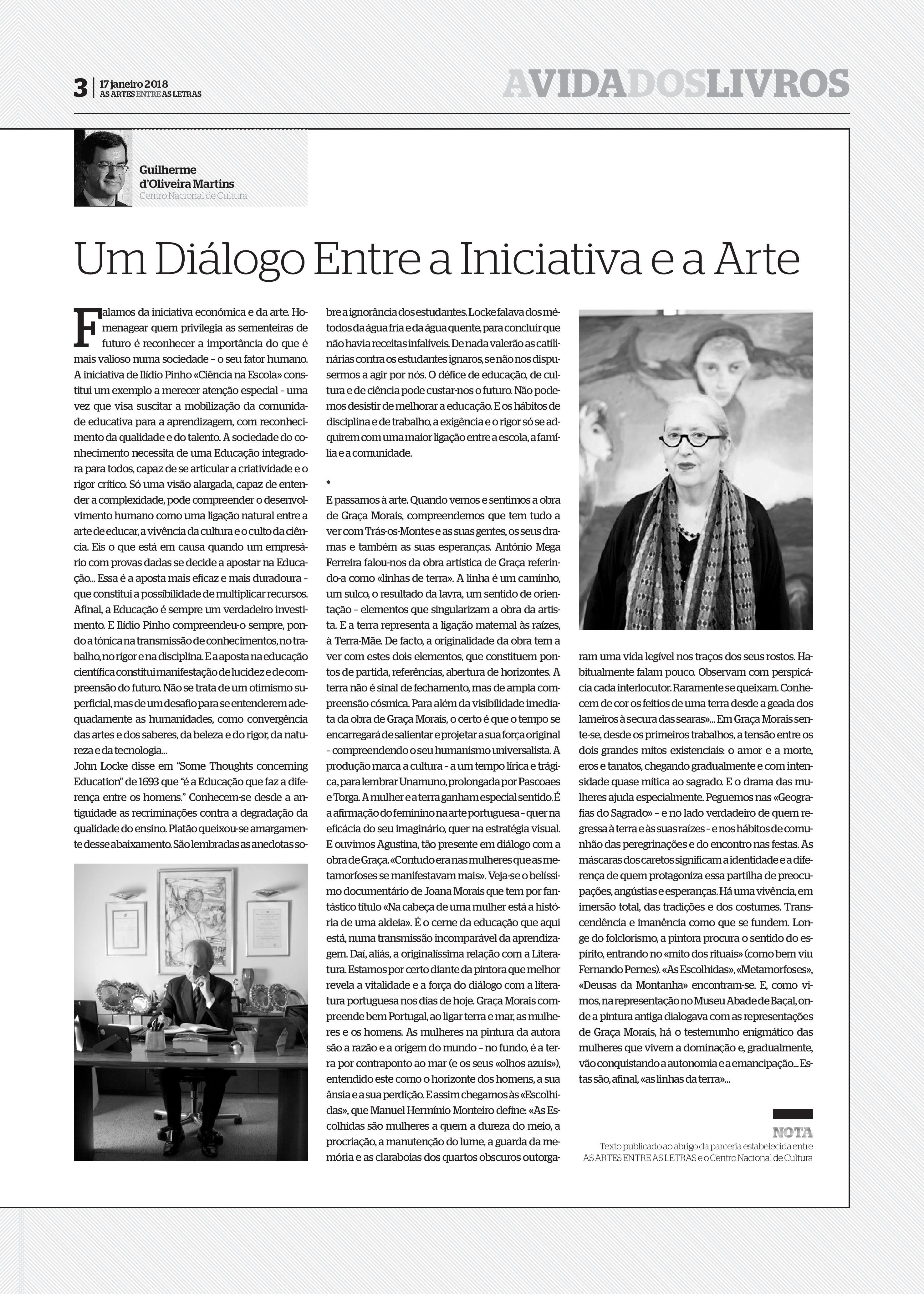 Um diálogo entre a iniciativa e a arte